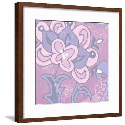 Paisley Blossom Pink I-Leslie Mark-Framed Art Print