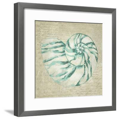 Seafoam Shell I-Chariklia Zarris-Framed Art Print