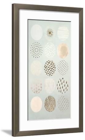 Metallic Foil Playful Patterns II-June Erica Vess-Framed Art Print