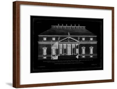 Vintage Facade Blueprint II-H^ Hulsburgh-Framed Art Print