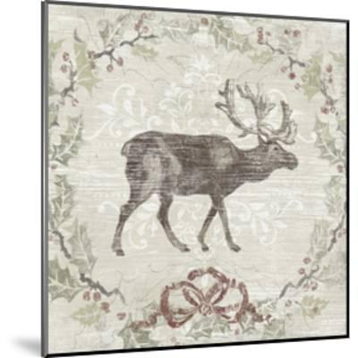 Cabin Christmas V-June Erica Vess-Mounted Art Print
