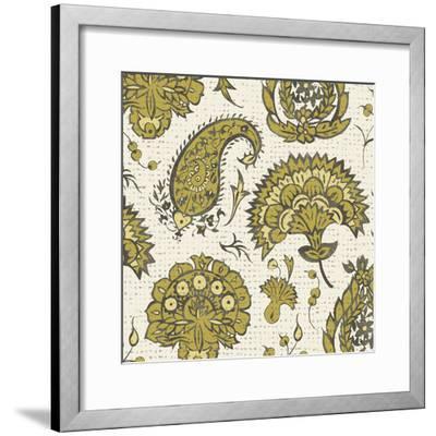 Block Print Tapestry II-Chariklia Zarris-Framed Art Print