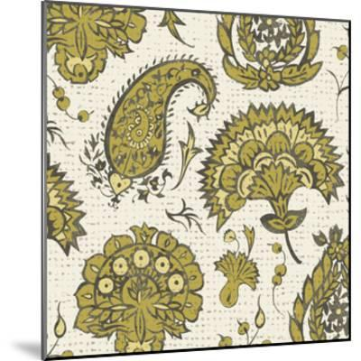 Block Print Tapestry II-Chariklia Zarris-Mounted Art Print
