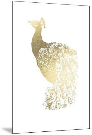 Gold Foil Peacock I-Grace Popp-Mounted Art Print