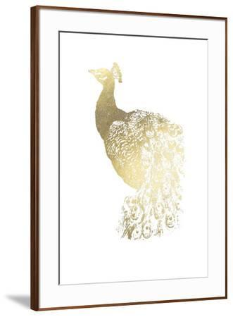 Gold Foil Peacock I-Grace Popp-Framed Art Print