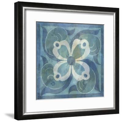 Patinaed Tile V-Naomi McCavitt-Framed Giclee Print