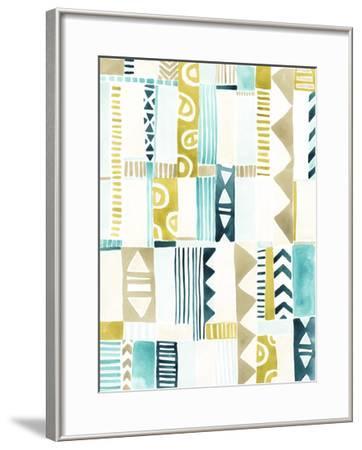 Tribal Patchwork II-June Erica Vess-Framed Giclee Print