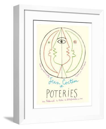 Poteries - Pottery Exhibition at the Tribunal de Pêche de Villefranche sur Mer-Jean Cocteau-Framed Giclee Print