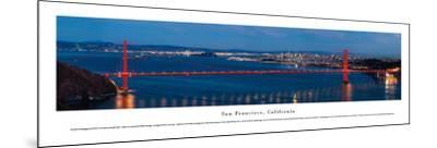San Francisco - Golden Gate at Night - Unframed-Christopher Gjevre-Mounted Art Print