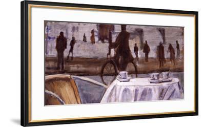 Bicycle Ride-Adolf Llovera-Framed Art Print