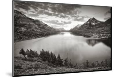 Waterton Sunset-Steve Silverman-Mounted Art Print