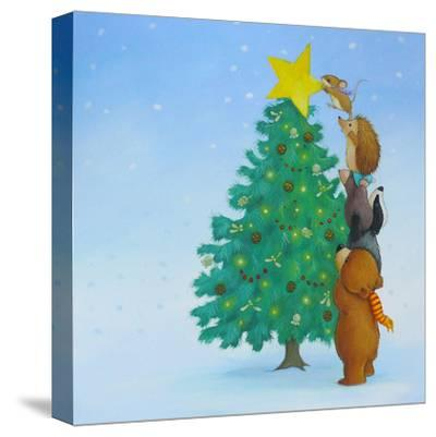Christmas Tree Star-Advocate Art-Stretched Canvas Print