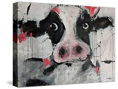 Cow Pink-Annie Rodrigue-Stretched Canvas Print