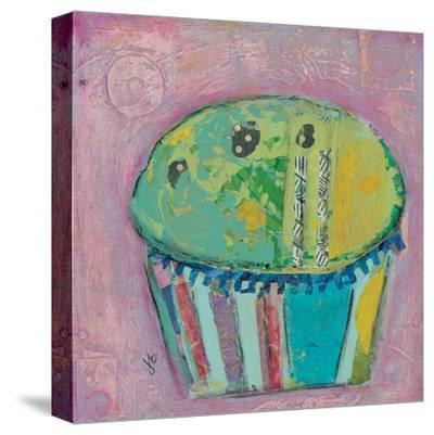 Cupcake Ii (Green Icing)-Julie Beyer-Stretched Canvas Print