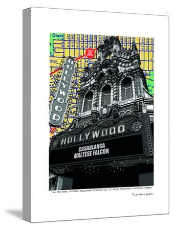 Hollywood Theatre Portland--Stretched Canvas Print