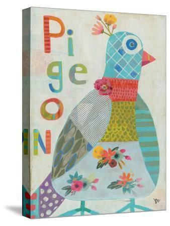 Pigeon-Julie Beyer-Stretched Canvas Print