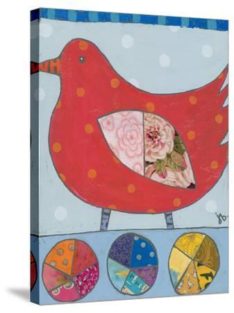 Red Bird-Julie Beyer-Stretched Canvas Print