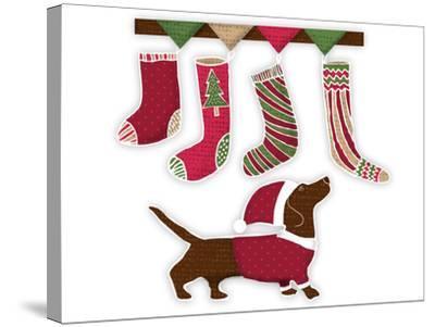 Santa Dog2-Kristin Van Handel-Stretched Canvas Print