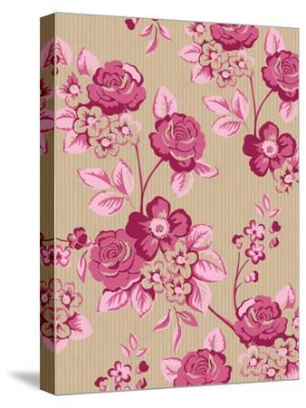 Pink Floral-Advocate Art-Stretched Canvas Print