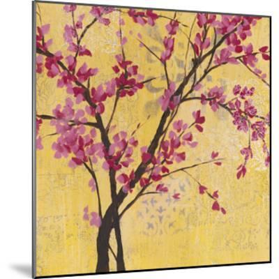 Fuchsia Blossoms II-Jennifer Goldberger-Mounted Premium Giclee Print