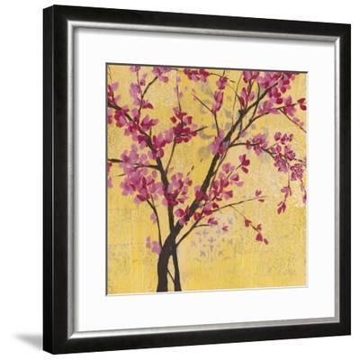 Fuchsia Blossoms II-Jennifer Goldberger-Framed Premium Giclee Print