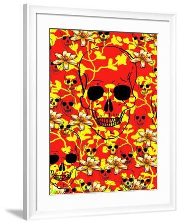 Pattern Skull Design-Wonderful Dream-Framed Art Print