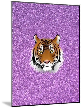 Tiger Cat With Purple Glitter-Wonderful Dream-Mounted Art Print