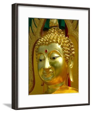 Golden Buddha Symbol Meditation-Wonderful Dream-Framed Art Print