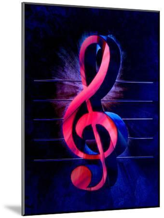 Colorful Music Clef Style-Wonderful Dream-Mounted Art Print