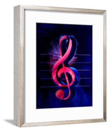 Colorful Music Clef Style-Wonderful Dream-Framed Art Print