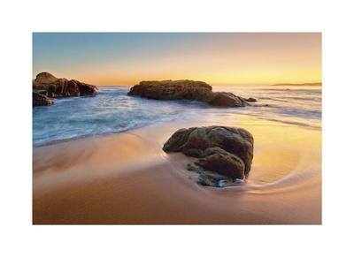 Beach at Cargese-Paolo De Faveri-Framed Giclee Print