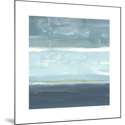 Teal Horizon II-Rob Delamater-Mounted Limited Edition