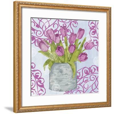 Garden Gate Flowers IV-Leslie Mark-Framed Art Print