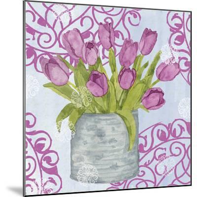 Garden Gate Flowers IV-Leslie Mark-Mounted Art Print