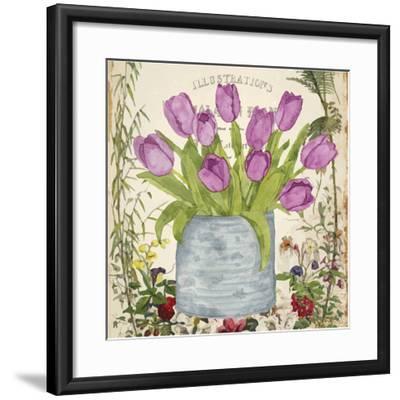 Vintage Tulip Can II-Leslie Mark-Framed Art Print