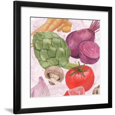 Veggie Medley I-Leslie Mark-Framed Art Print