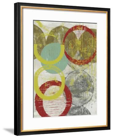 Layers & Circles II-Jennifer Goldberger-Framed Giclee Print