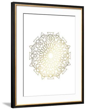 Gold Foil Mandala I-Chariklia Zarris-Framed Art Print