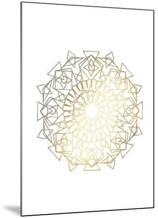 Gold Foil Mandala I-Chariklia Zarris-Mounted Art Print