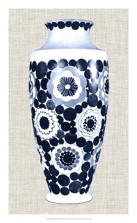 Blue & White Vase V-Unknown-Framed Giclee Print