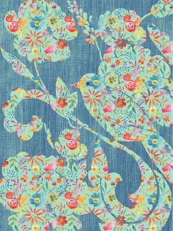 Floral Birds II-Chariklia Zarris-Framed Art Print