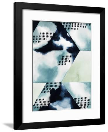 Blue Billow I-Grace Popp-Framed Giclee Print