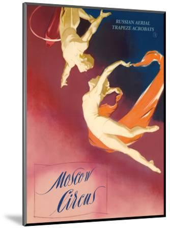 Moscow Circus - Russian Aerial Trapeze Acrobats-Pacifica Island Art-Mounted Art Print