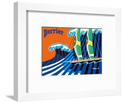 Perrier - The Sailboat - Hokusai The Great Wave-Bernard Villemot-Framed Art Print