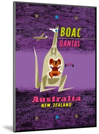 Australia - New Zealand - BOAC (British Overseas Airways Corporation)-Maurice Laban-Mounted Art Print