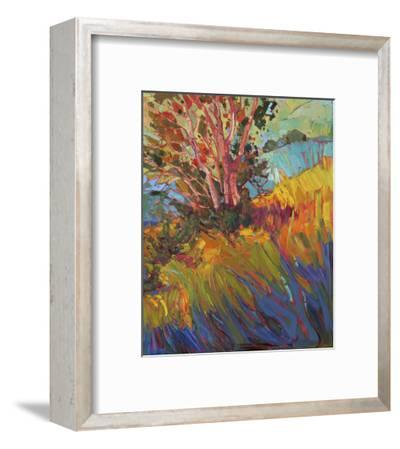 Hills in Quadtych (bottom right)-Erin Hanson-Framed Art Print