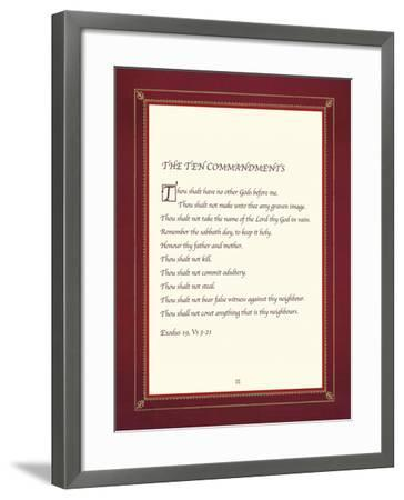 The Ten Commandments-The Inspirational Collection-Framed Giclee Print