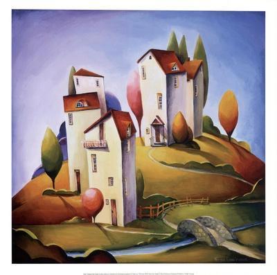 Bridge to the Village-Nina Dmitrieva-Framed Art Print