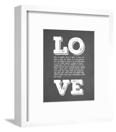Corinthians 13:4-8 Love is Patient - Chalkboard-Inspire Me-Framed Art Print