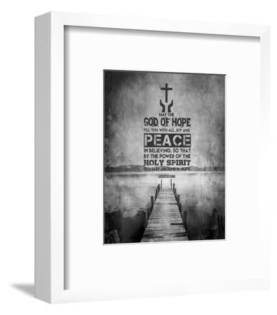 Romans 15:13 Abound in Hope (Black & White)-Inspire Me-Framed Art Print